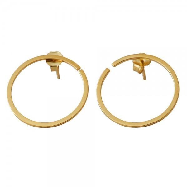 Design Letters Ohrringe 16mm gold