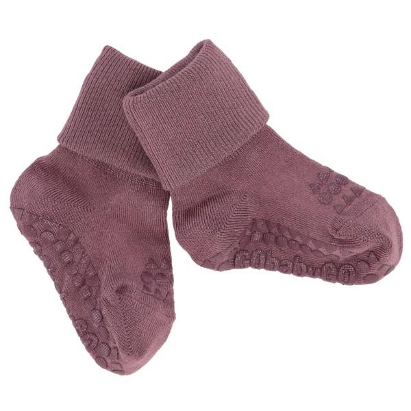 GoBabyGo Antirutsch-Socken BAMBOO - Misty Plum