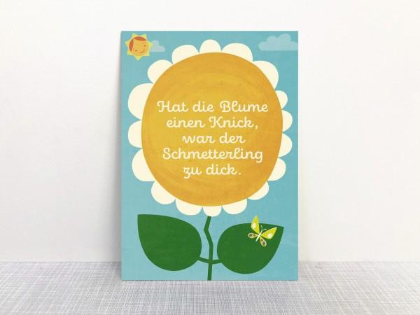 Monimari Postkarte - Hat die Blume einen Knick..