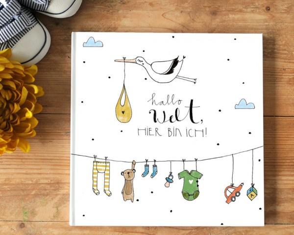 """Babytagebuch """"Hallo Welt hier bin ich"""" - Das erste Jahr!"""