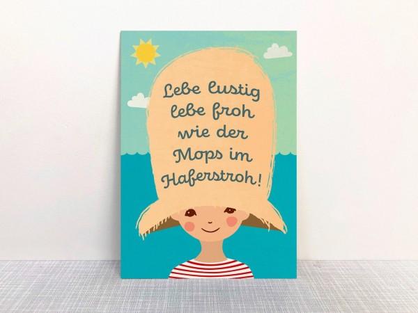 Monimari Postkarte - Lebe lustig lebe froh..
