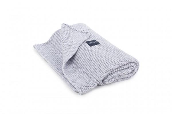 Organic Blanket Honeycomb Knit - light grey