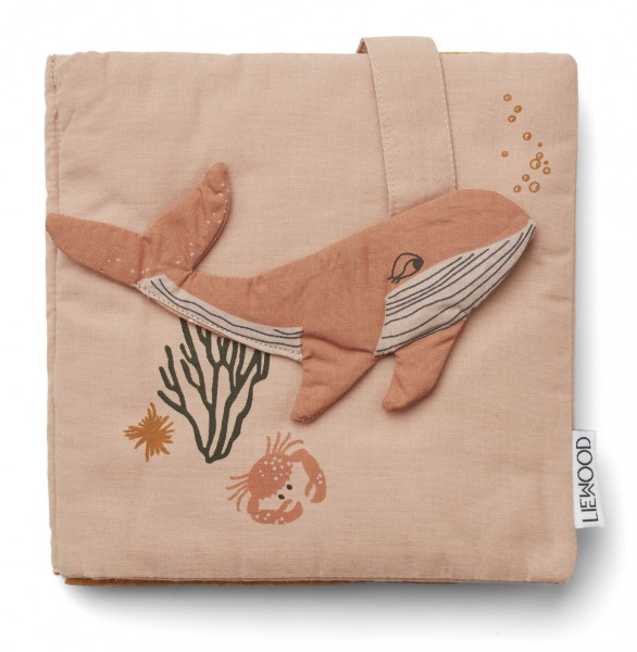 Liewood Knisterbuch Sammy - Sea creature rose mix