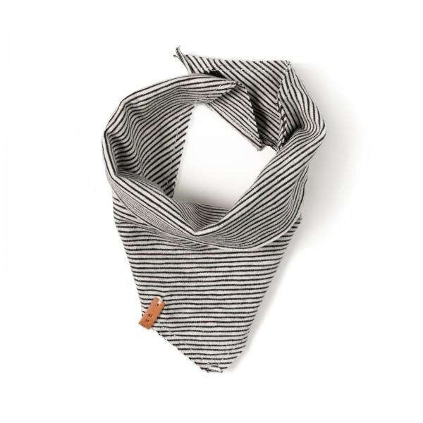Nixnut Halstuch / Bandana Bib - Black/white stripes