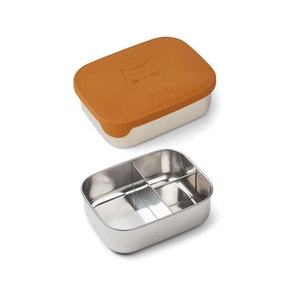 Liewood Arthur lunchbox - cat mustard