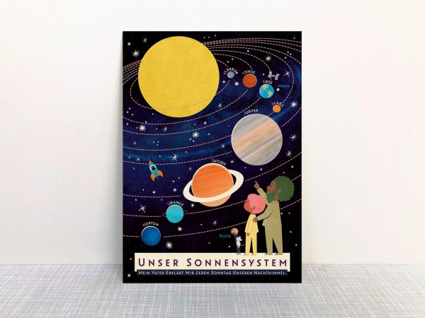 Monimari Postkarte - Unser Sonnensystem