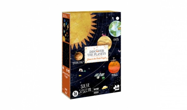 londji Discover the Planets Puzzle - Glow in the dark