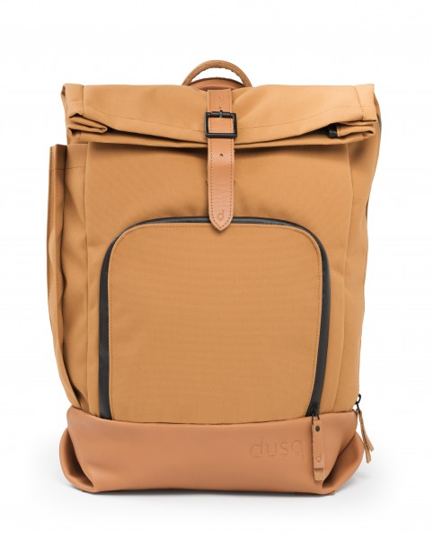 Family Bag Canvas/ Leder - cognac