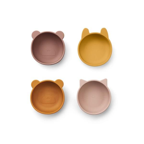 Liewood Iggy silicone bowls 4er-Set - rose mix