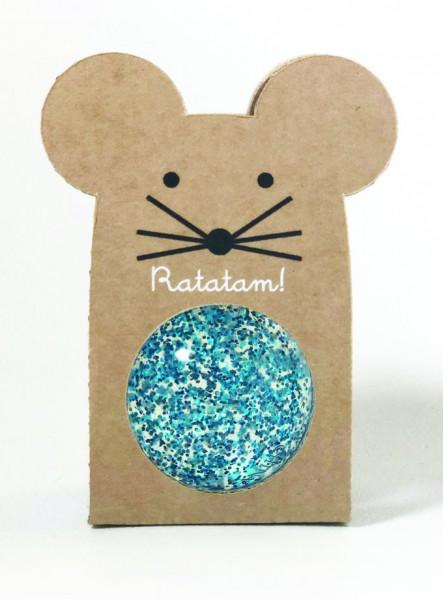 Flummi - Mouse Glitter Blau