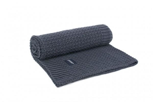 poofi Organic Blanket Corn Knit - dark blue