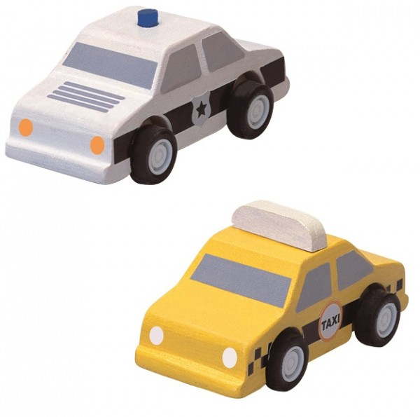 Plantoys Taxi & Polizeiauto