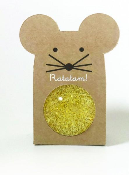 Flummi - Mouse Glitter Gold
