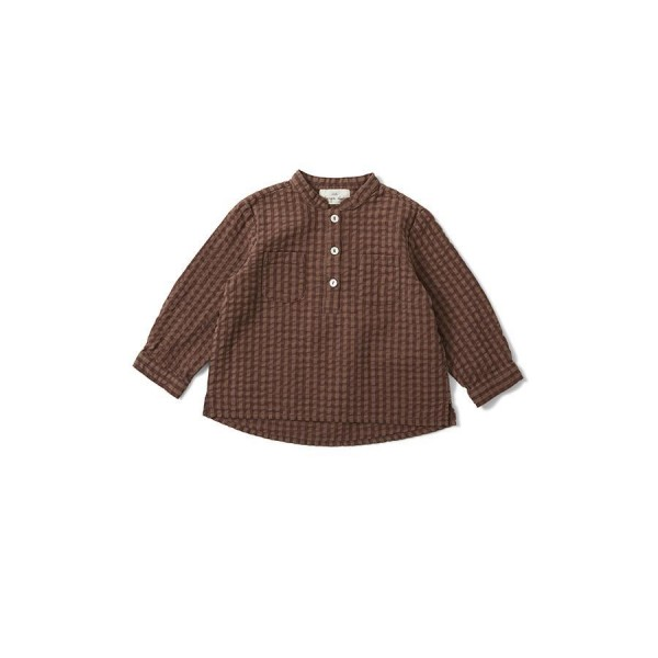 Konges Slojd CHARLIE SHIRT - brown check