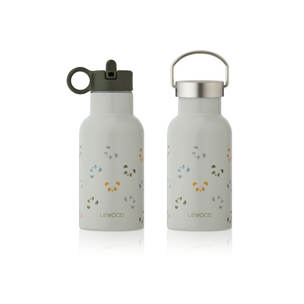 Liewood Anker Water Bottle 350ml - Panda dove blue