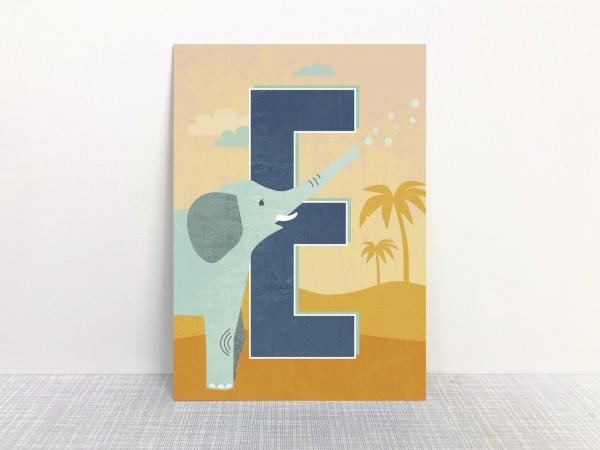 Buchstabenkarte - E