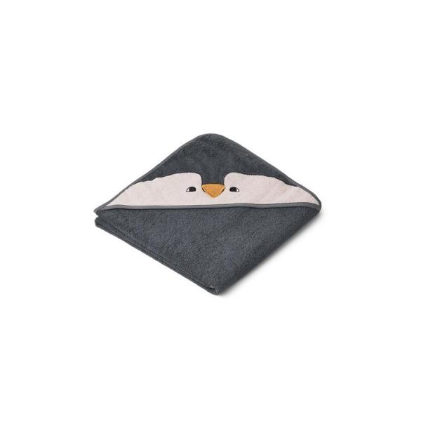 Liewood Kapuzenhandtuch Augusta 100x100 - penguin stone grey