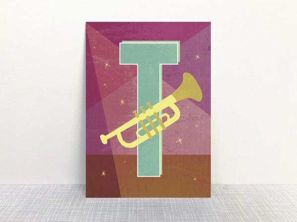 Buchstabenkarte - T