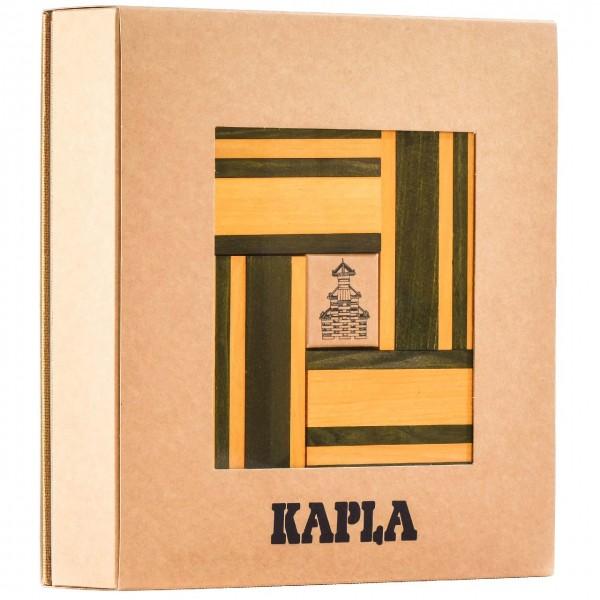 Kapla Buch + Farben 40er Set - gelb/ grün