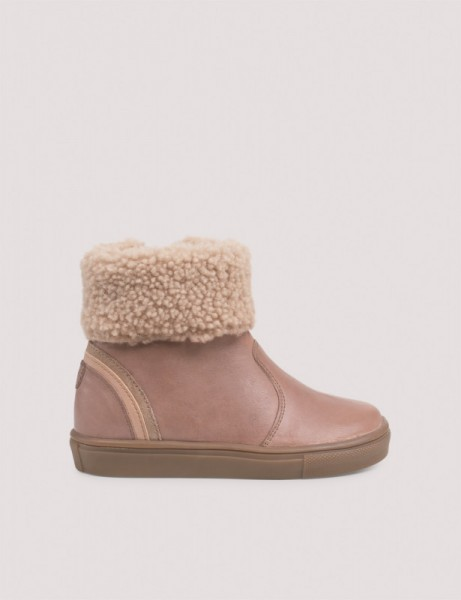 Chubby Shearling Winterboot mit Tex - Old Rose