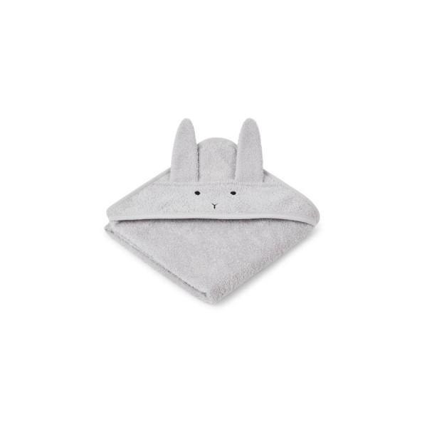 Liewood Kapuzenhandtuch Albert 70x70cm - rabbit dumbo grey