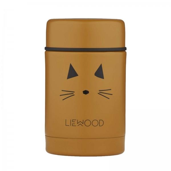 Liewood Nadja Thermobecher 250ml - Cat mustard