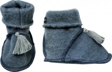 KitzHeimat Wollfleece Babyschuhe/ Trageschuhe - Frosty Blue