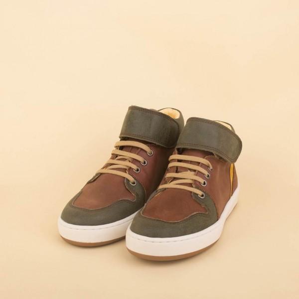 Hi-top Sneaker - green/brown