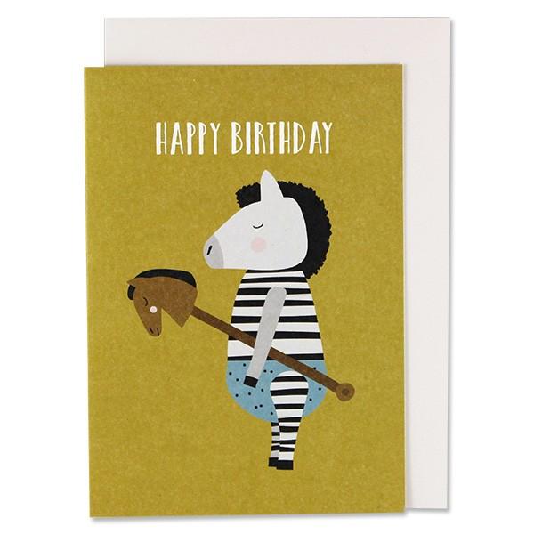 ava & yves Klappkarte Zebra - Happy Birthday