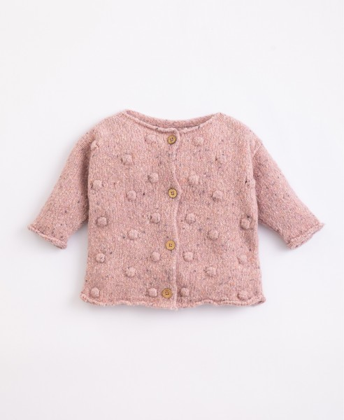 play up Knitted Cardigan - Cor de Rosa