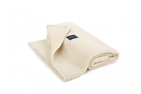 Organic Blanket Honeycomb Knit - cream