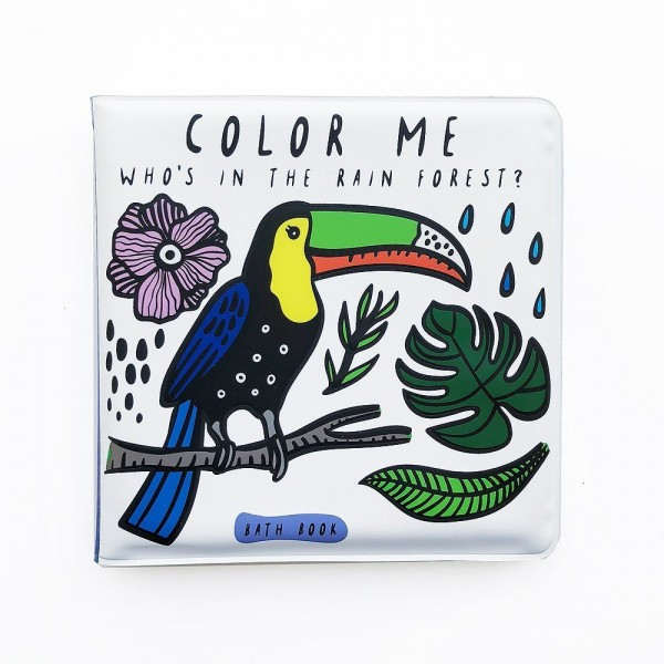 """Wee Gallery Badebuch """"Colour Me"""" - Rainforest"""