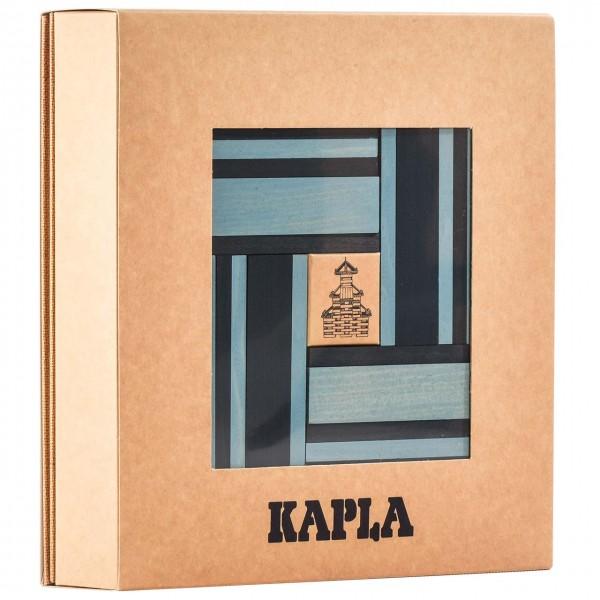 Kapla Buch + Farben 40er Set - hellblau/ blau