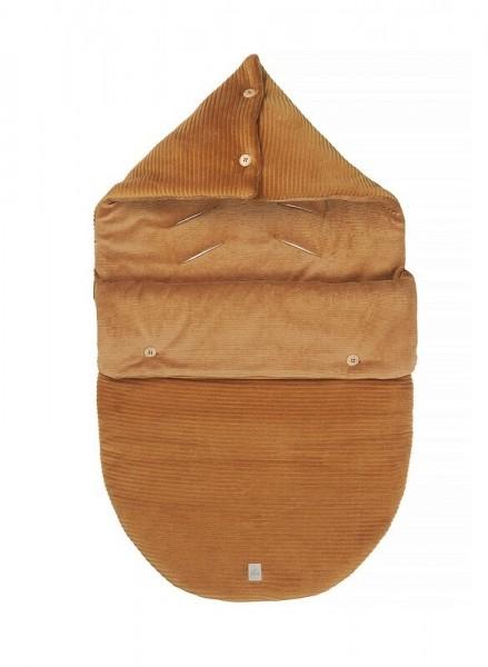 Nanami Fußsack für Babyschale Cord - sand