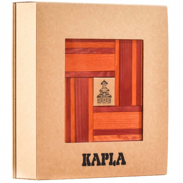 Kapla Buch + Farben 40er Set - rot/ orange
