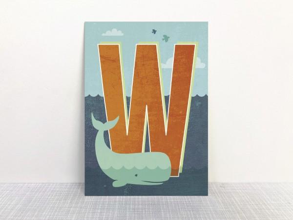Buchstabenkarte - W