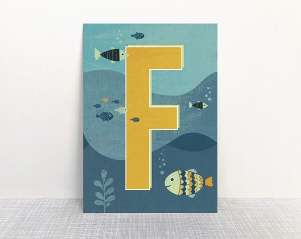 Monimari Buchstabenkarte - F