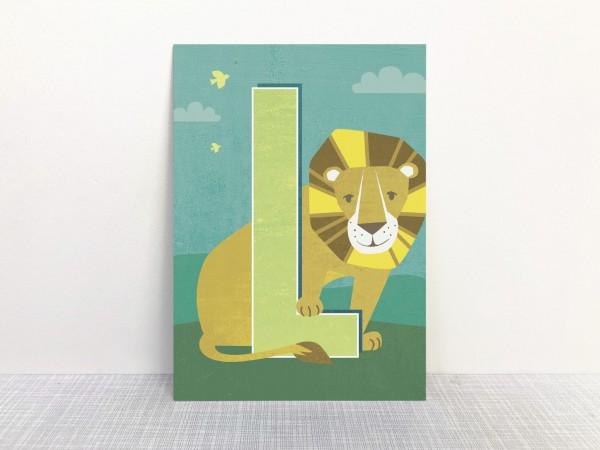 Buchstabenkarte - L