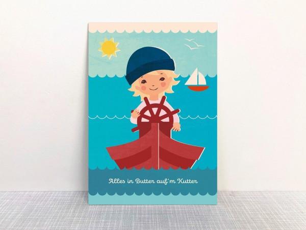 Monimari Postkarte - Alles in Butter..
