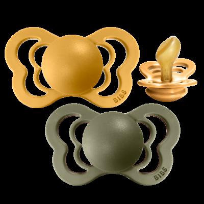 bibs COUTURE 2er LATEX - Honey & Olive