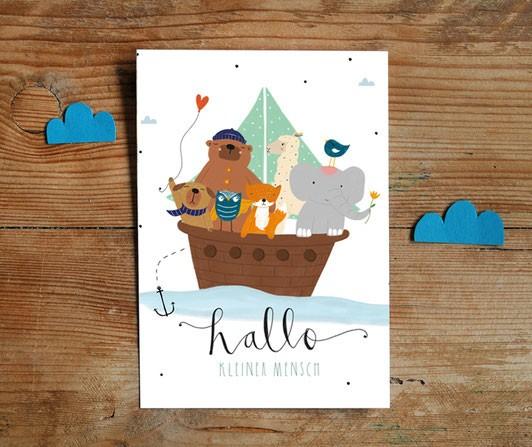 Postkarte - Hallo kleiner Mensch