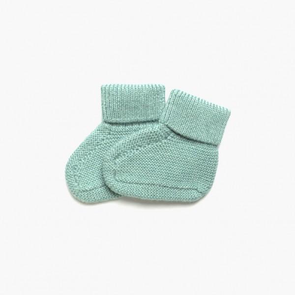 strickgut Babyschühchen - jade