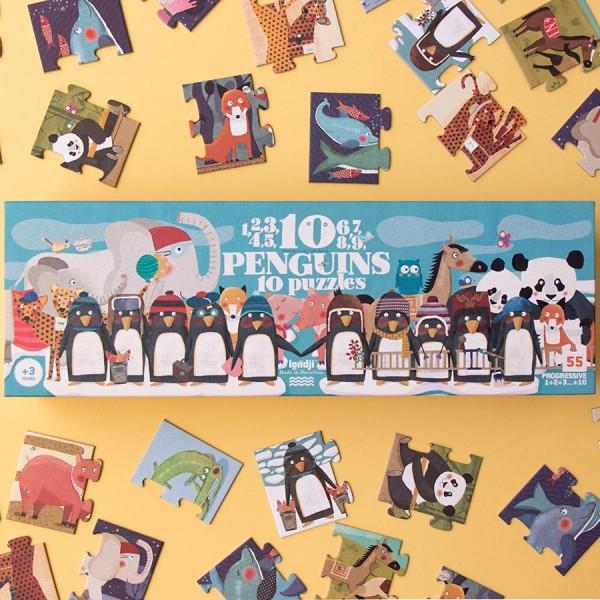 londji 10 Penguins Puzzle
