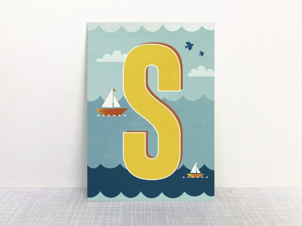 Monimari Buchstabenkarte - S