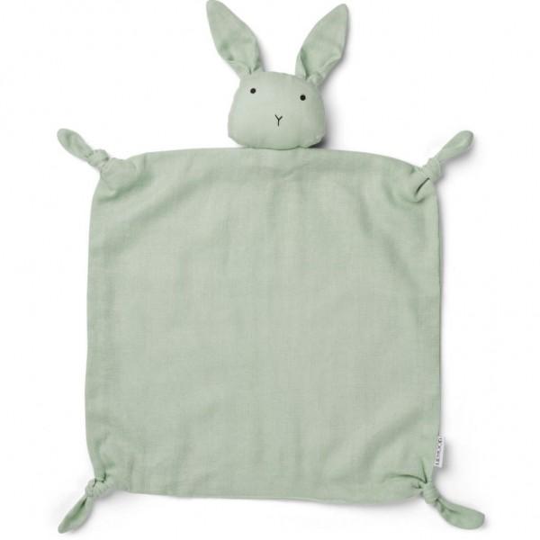 Liewood Agnete cuddle cloth - rabbit dusty mint