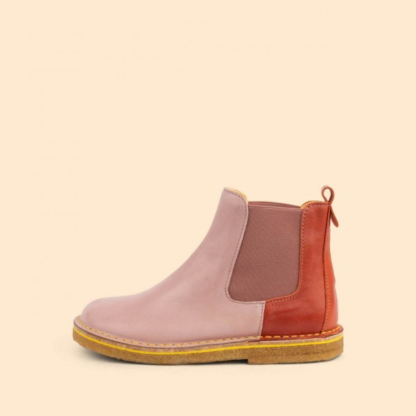 Dulis Chelsea Boot - Rose/ Coral