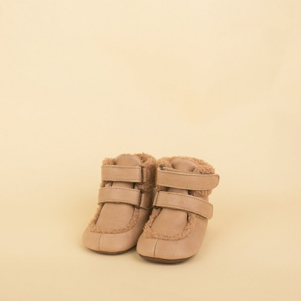 Straps Sheep Bootie - nude