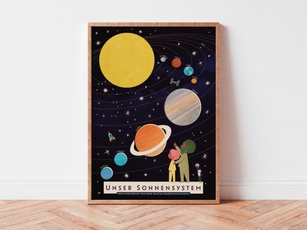 Monimari Poster A3 - Sonnensystem