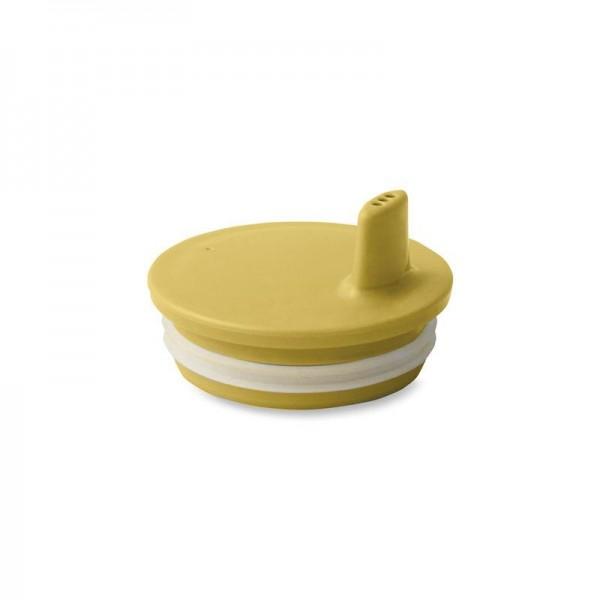 Design Letters Drink Lid for Melamine Cup - Mustard
