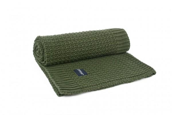 poofi Organic Blanket Corn Knit - bottle green
